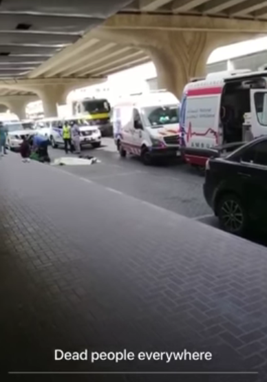 Blood flows as Nigerian cultists in UAE attack another group of Nigerians said to be a rival cult group (graphic videos)