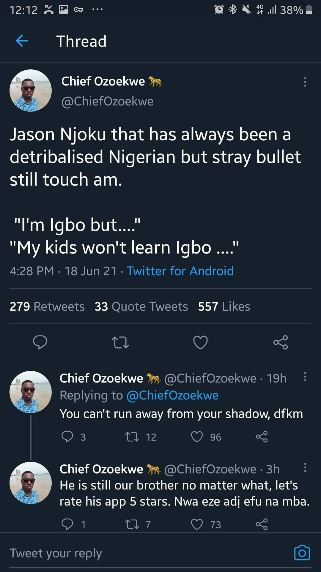 Jason Njoku apologizes to Ndi Igbo after they rallied round to save his app from bad reviews posted as vengeance