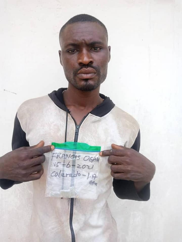 NDLEA arrests Pakistan-returnee with heroin hidden in his anus and law enforcement officer who sells illicit drugs to students, cultists