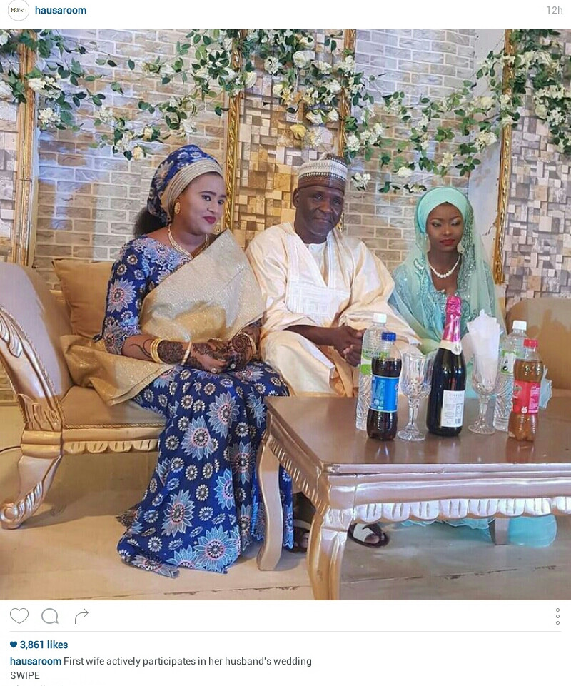 Wedding crasher: See what the first wife does in her husband's wedding to second wife (Photos)