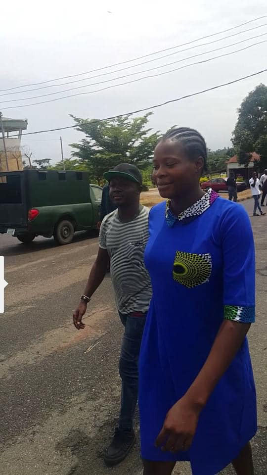 Update: Photos and video of EndSARS protester and her baby after being granted N10m bail