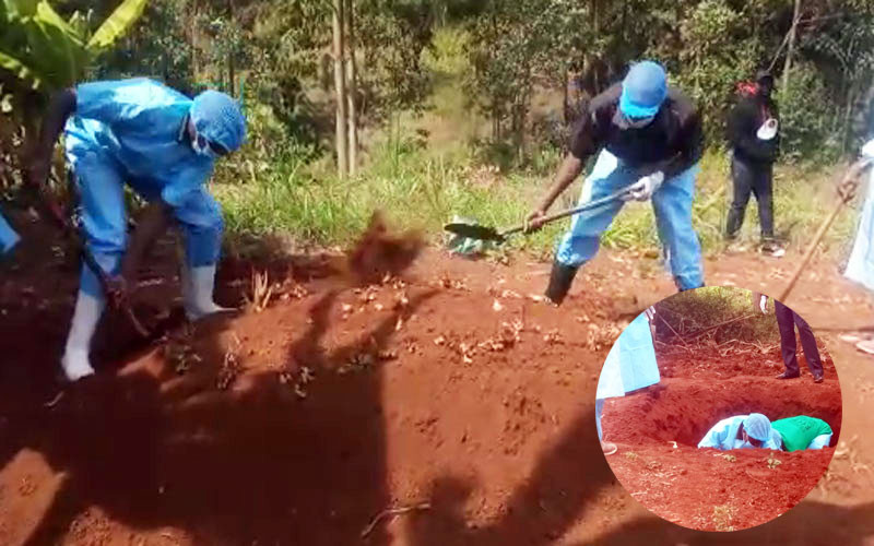 Body of Kenyan man exhumed after he was buried by his lover without wife