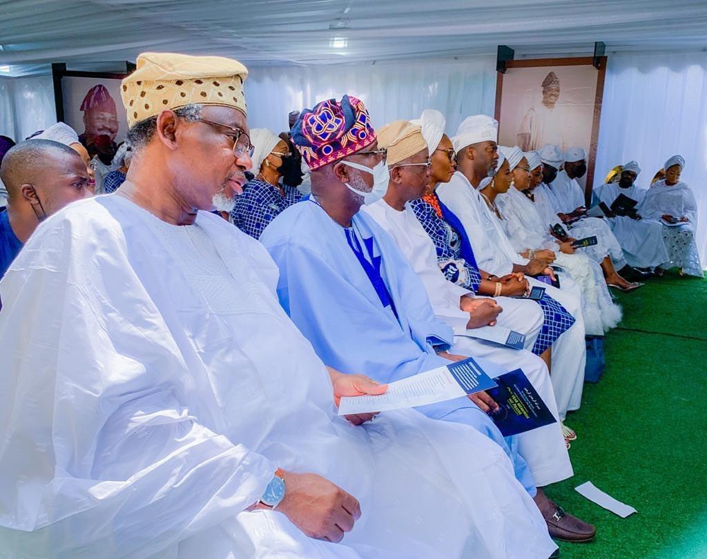 Photos from the memorial service of Senator Abiola Ajimobi