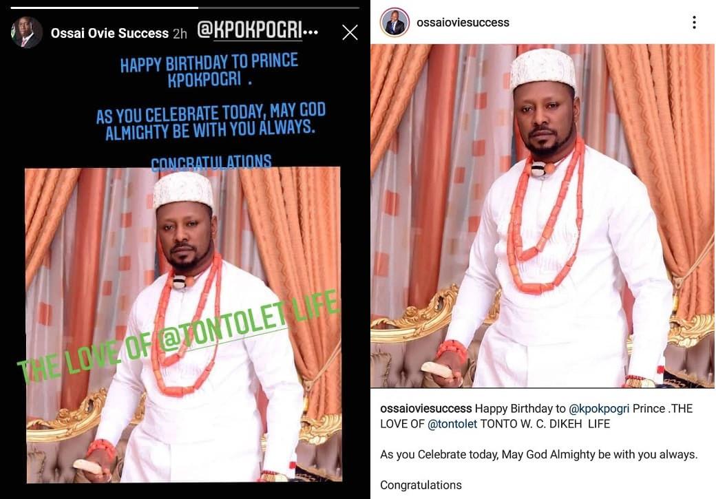 Anti-Corruption activist,  Comrade Prince Kpokpogri revealed as Tonto Dikeh
