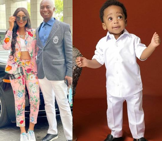 ?Regina Daniels and her billionaire husband, Ned Nwoko celebrate their son, Munir on his first birthday (photos)
