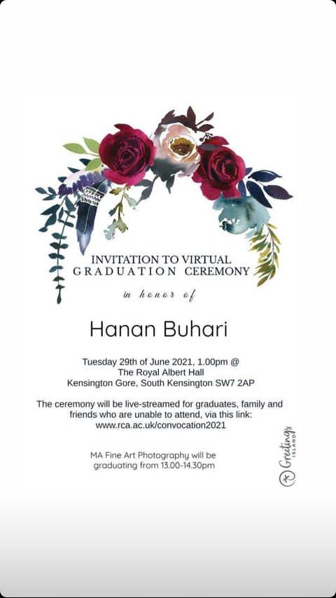President Buhari's daughter bags Masters degree from Royal College of Art, UK