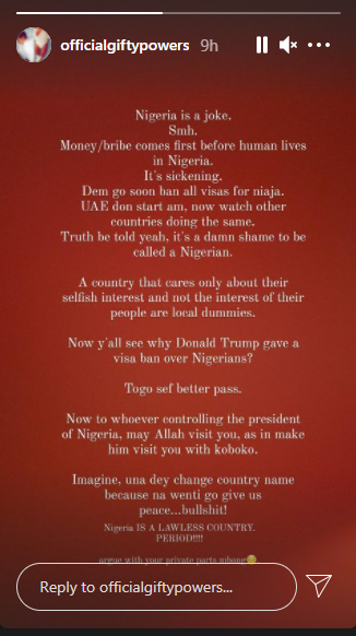 It?s a shame to be called a Nigerian - BBNaija