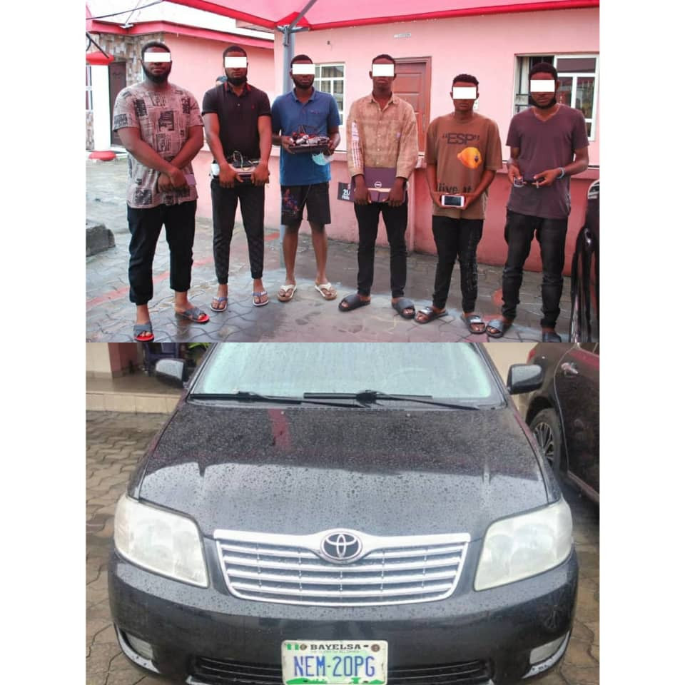 Six suspected internet fraudsters arrested in Port Harcourt (photos)