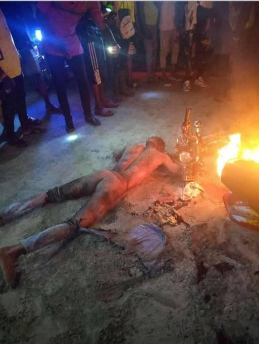 Suspected phone thief and POS robber killed, set ablaze in Delta