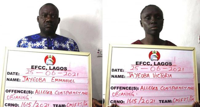 EFCC arrests couple over alleged N935m Ponzi scheme in Lagos