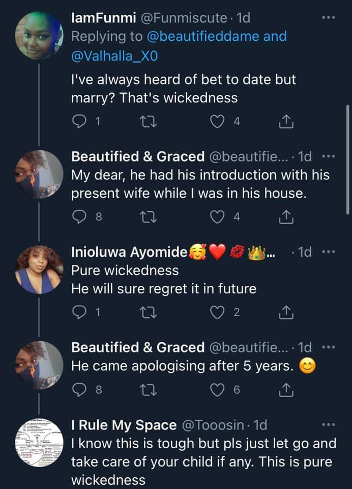 Shocking - Lady narrates how her ex-husband only married her over a bet