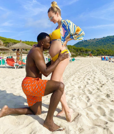 Former Super Eagles striker, Victor Obinna Nsofor, and partner expecting a baby (photos)