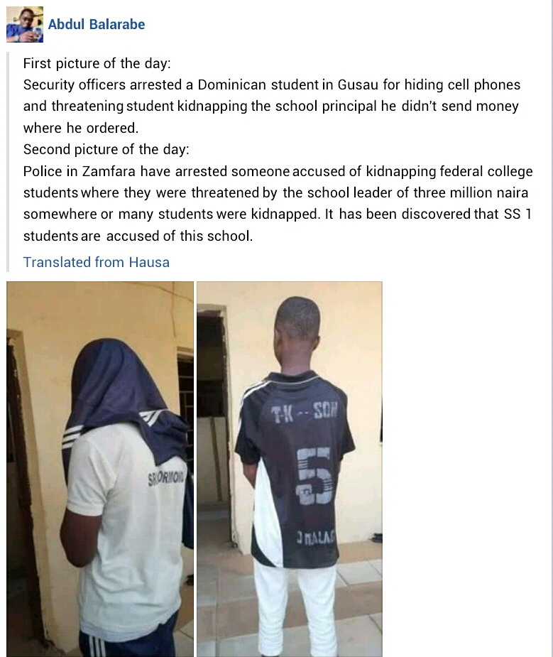 Update: Police parade two secondary school students arrested for threatening to kidnap principal and students in Zamfara