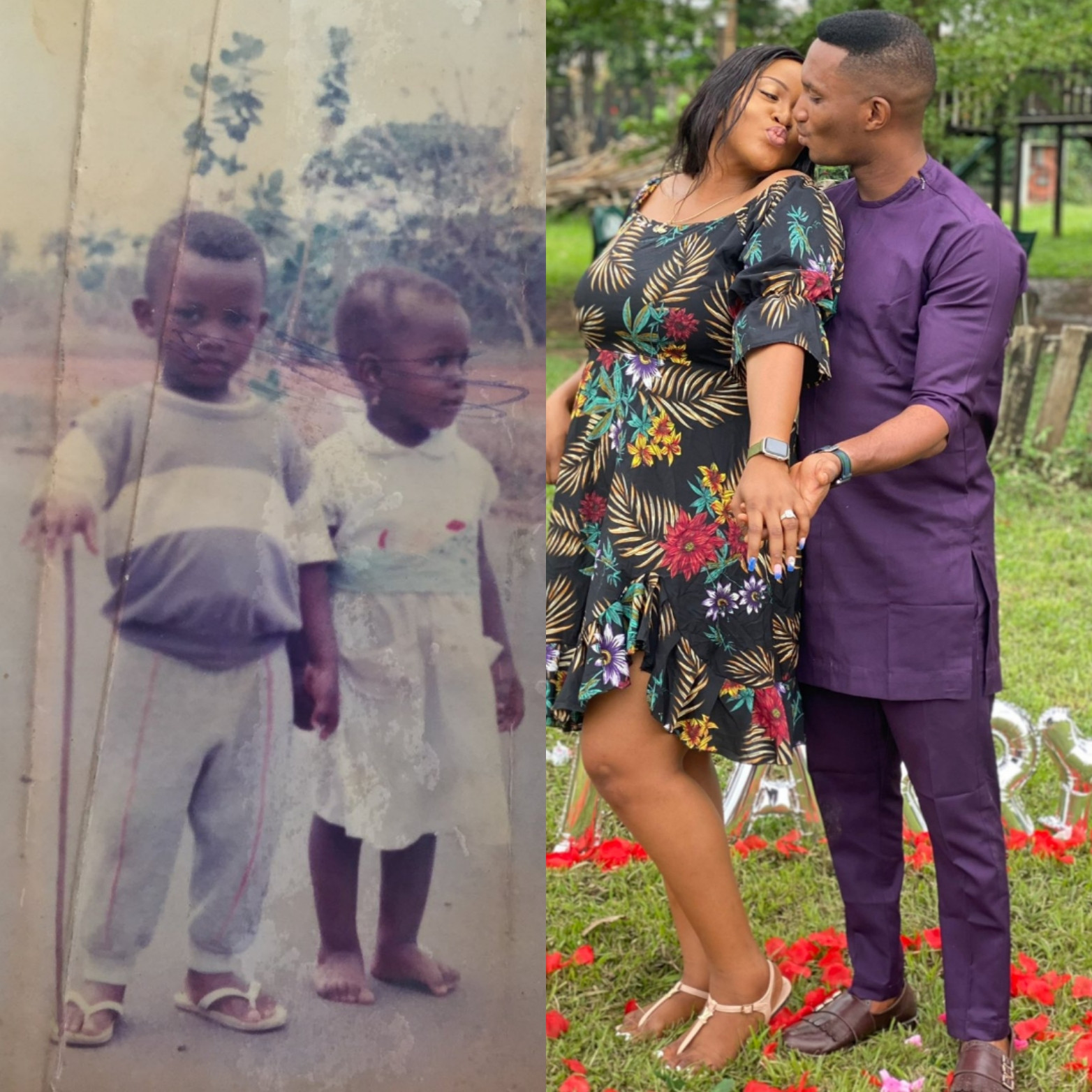 Photos: Couple who have known since they were kids get engaged