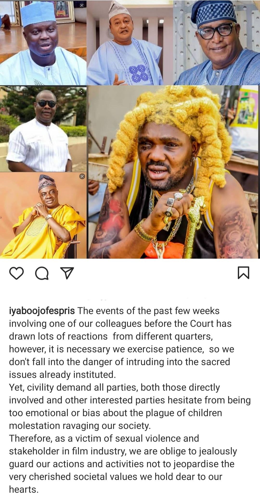 Iyabo Ojo reacts to Yomi Fabiyi