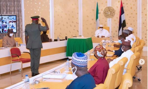 President Buhari decorates Chief Of Army Staff (photos)