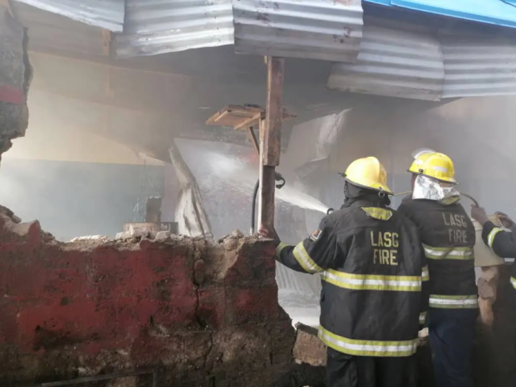 Fire guts shops at Ladipo market in Lagos