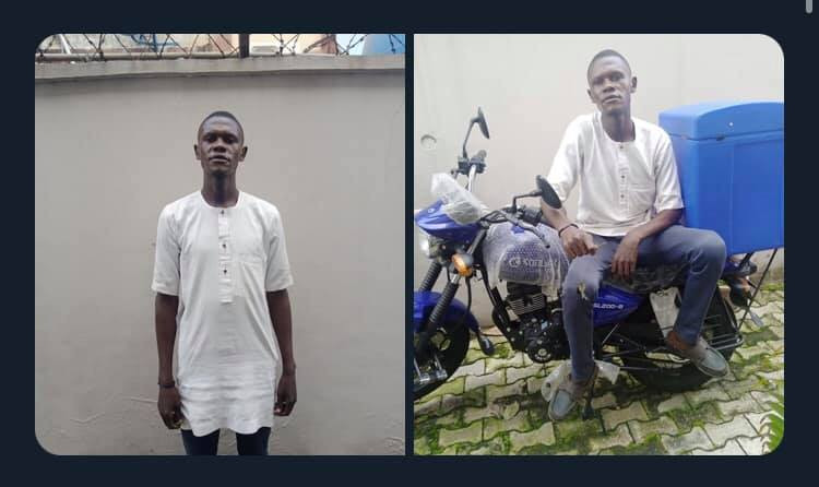 Dispatch rider allegedly disappears with boss
