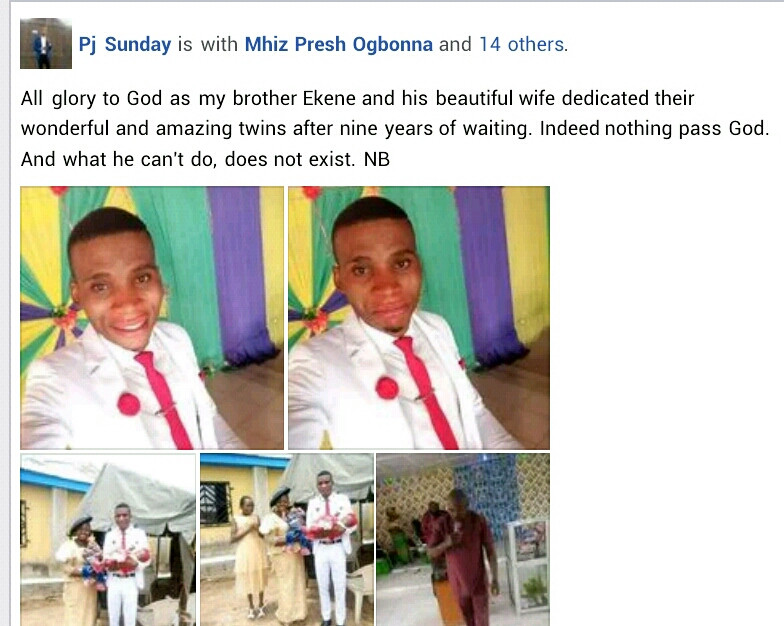 Nigerian couple welcome twins after 9 years of waiting