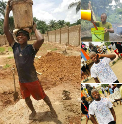 Man who sponsored his education with menial jobs reveals