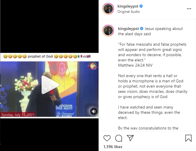 Not every one that rents a hall is a man of God or prophet - Pastor Kingsley Okonkwo reacts to Prophet Kobi Badu