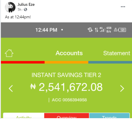 """""""Good name is better than ill gotten wealth"""" Man says as he returns N2.5m mistakenly paid into his account"""