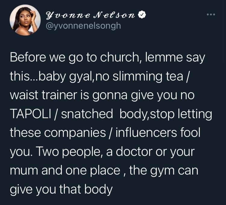 Slimming tea and waist trainer won