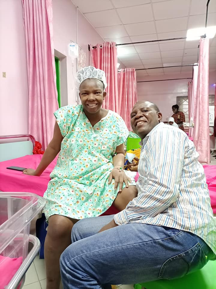 Nigerian couple celebrate birth of their triplets after 15 years of waiting