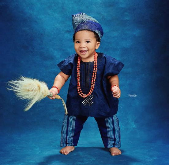 Toolz shares full face photos of her second son for the first time as he turns 1