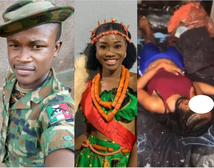 Soldier allegedly rapes and murders his girlfriend over alleged cheating