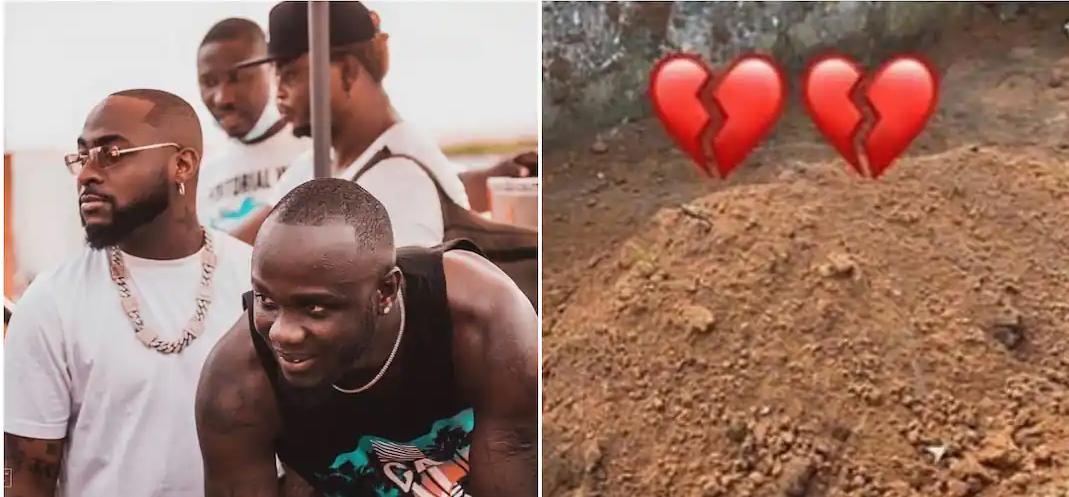 Davido and his crew visit Obama DMW?s grave in Epe, Lagos state (video)
