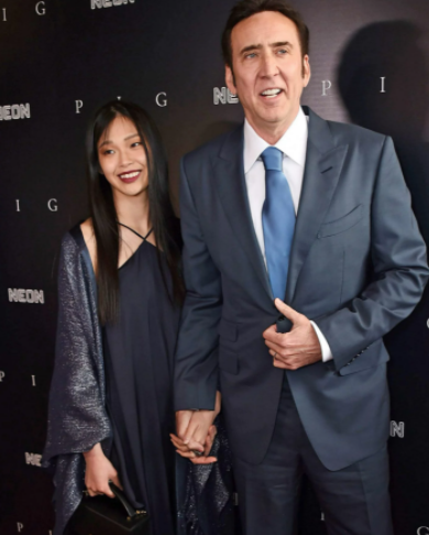 Nicolas Cage pictured with fifth wife, 26, as they make red carpet debut