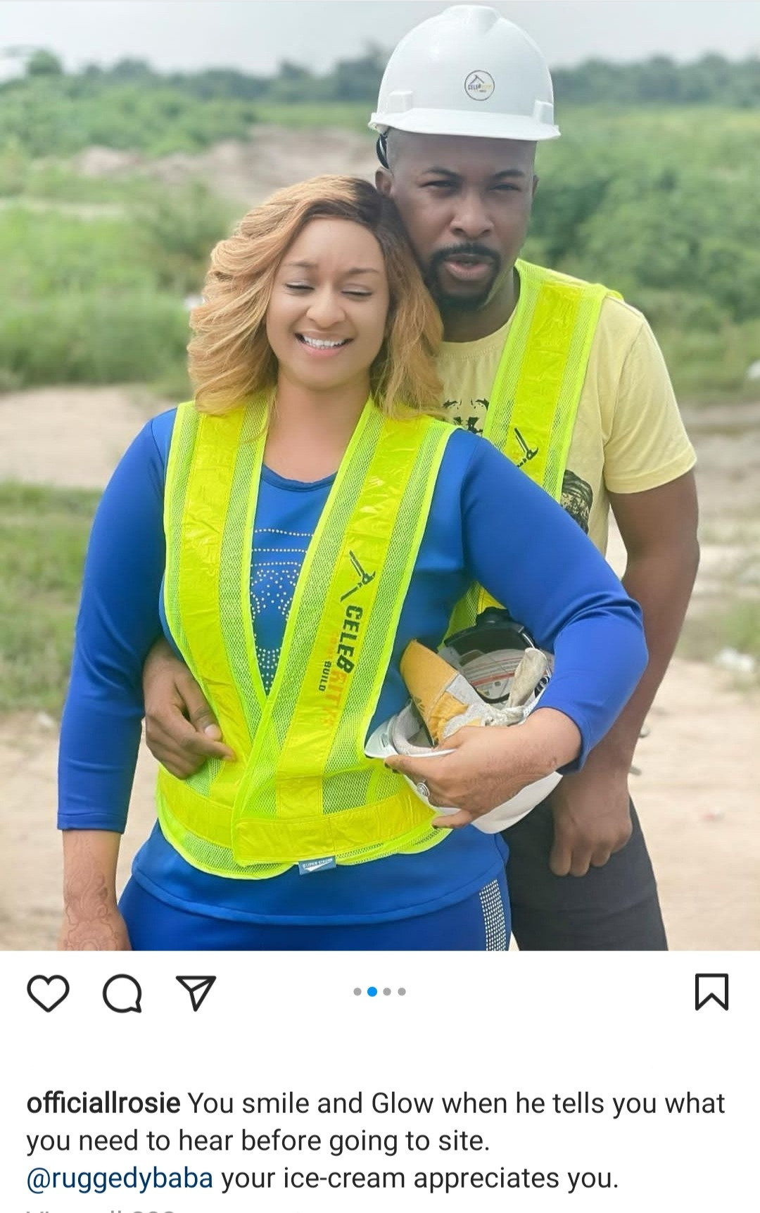 """""""Your ice cream appreciates you"""" Ultimate Love star, Rosie fuels speculation she and Ruggedman are an item as she posts photos of them together then acknowledges comments about their love"""