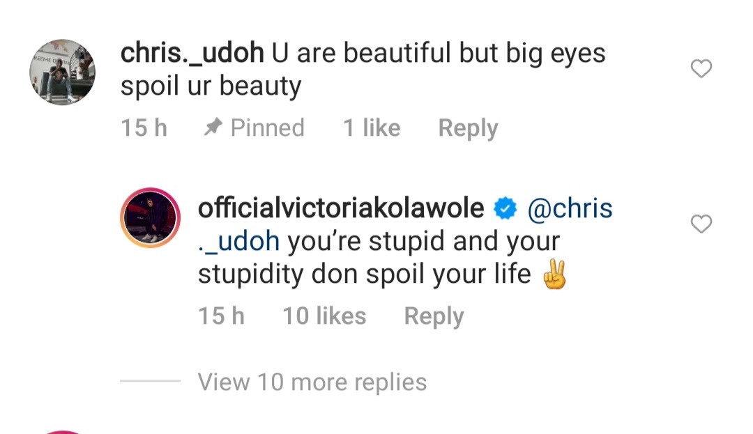 Actress, Victoria Kolawole slams troll who shamed her over her physical appearance