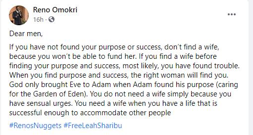 No purpose, no marriage - Ren Omokri tells men