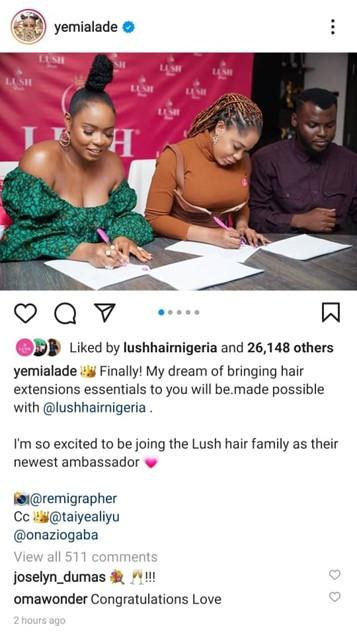 Yemi Alade becomes Lush Hair Brand Ambassador