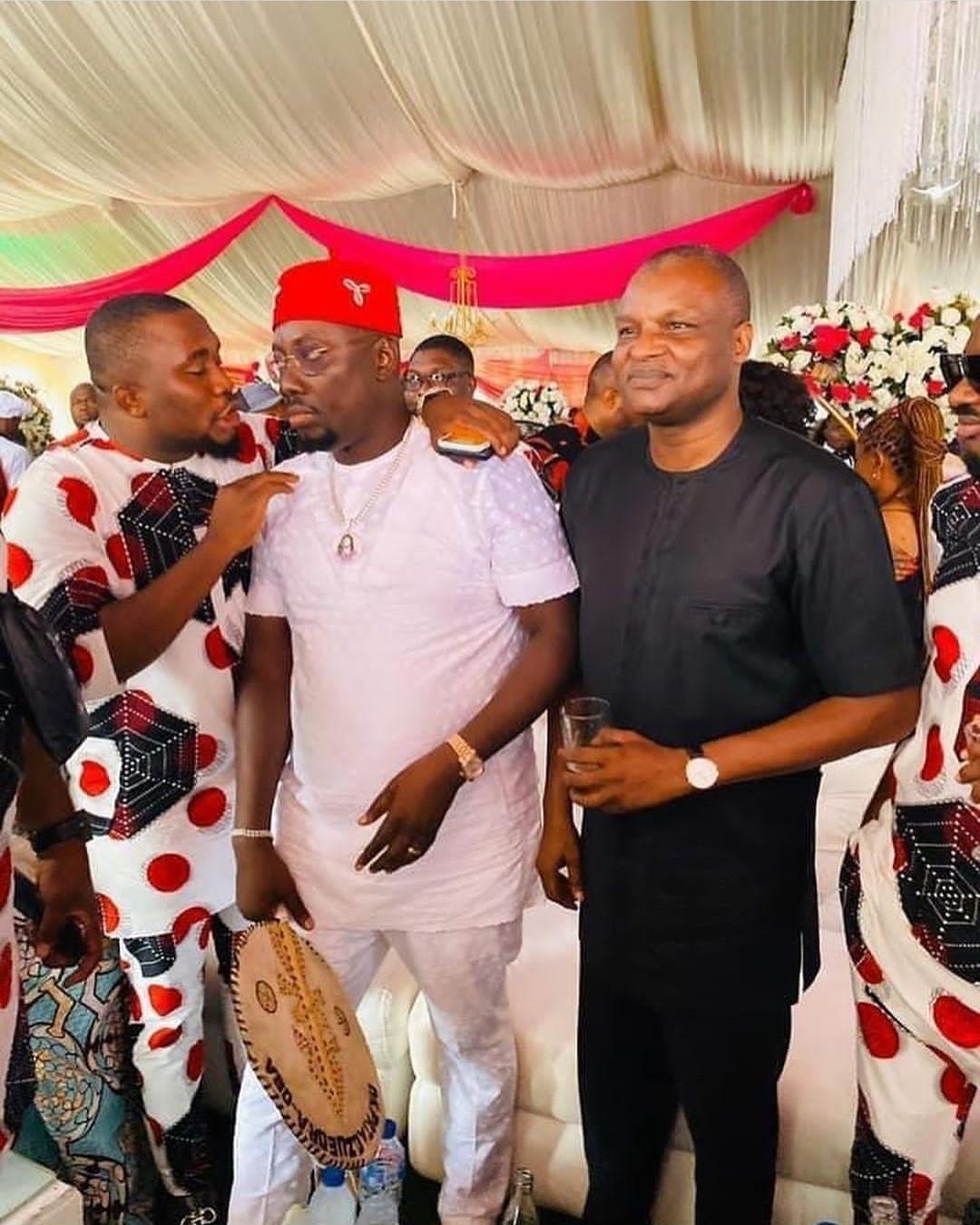 DCP Abba Kyari poses with Obi Cubana at his mother