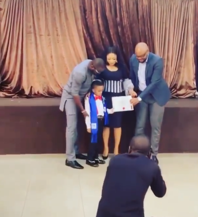 ''Having a man stand as a father to my son has been one of my secret prayers''- Tonto Dikeh writes as her partner accompanies her to her son's graduation (video). 48