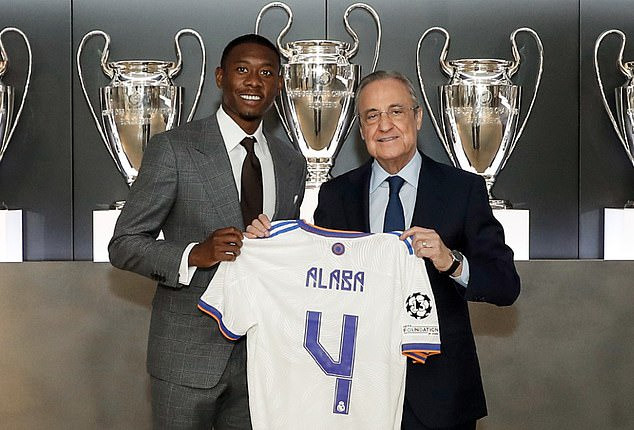 David Alaba unveiled as a Real Madrid player and handed No.4 shirt (Photos)