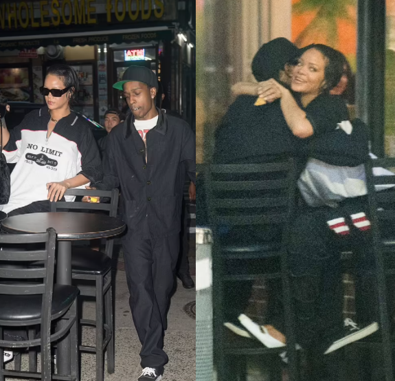 Rihanna and boyfriend A$AP Rocky get cuddly while on a romantic date in New York City (photos)