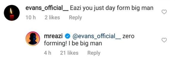 Singer Mr Eazi replies IG user who said he is ?forming big man?