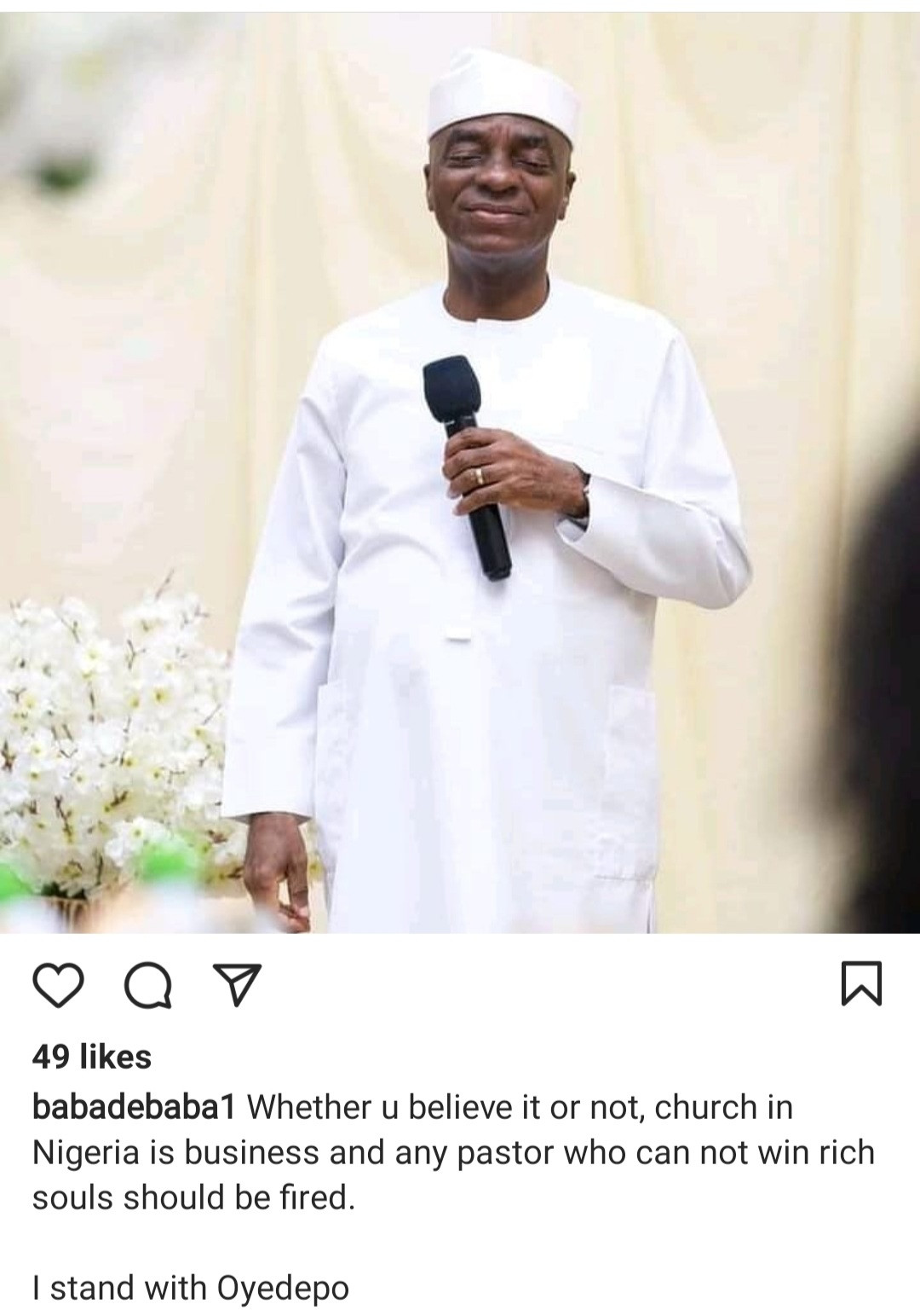"""""""I stand with Oyedepo. Church is business,"""" Comedian Baba de Baba says any pastor who can"""