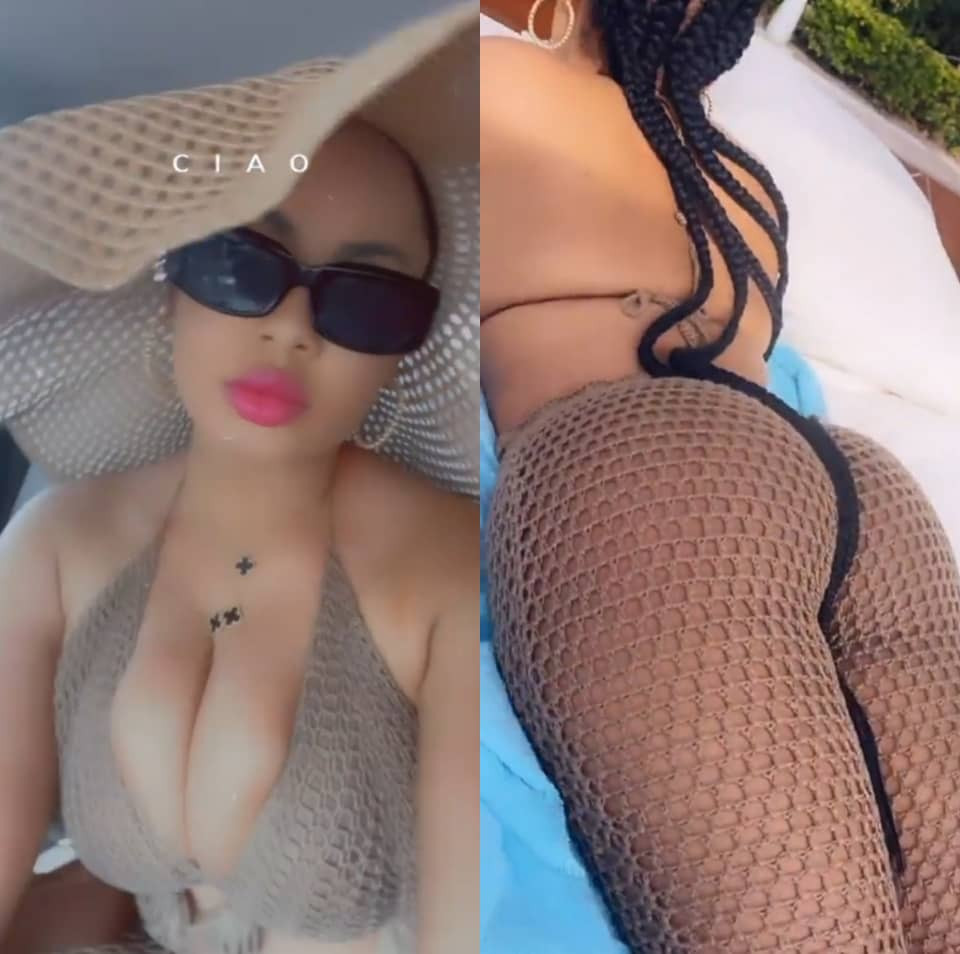 BBNaija star, Nina, flaunts her new body as she enjoys time out with her husband (video)