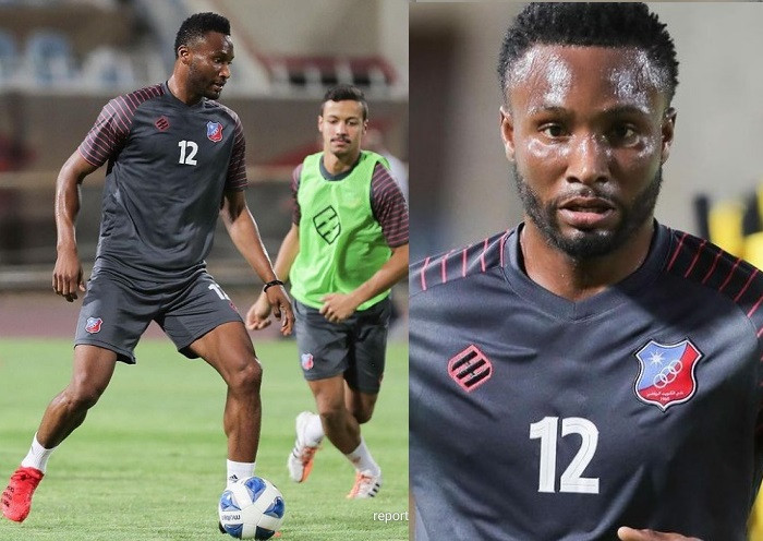 Mikel Obi trains with his new teammates for the first time after joining Kuwait SC (photos)