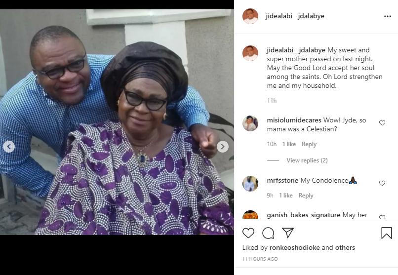 Actor Jide Alabi loses mum
