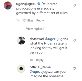 This is deliberate provocation - Actor Ugezu J Ugezu reacts to soldiers allegedly shutting down Imo market and telling them to resume when