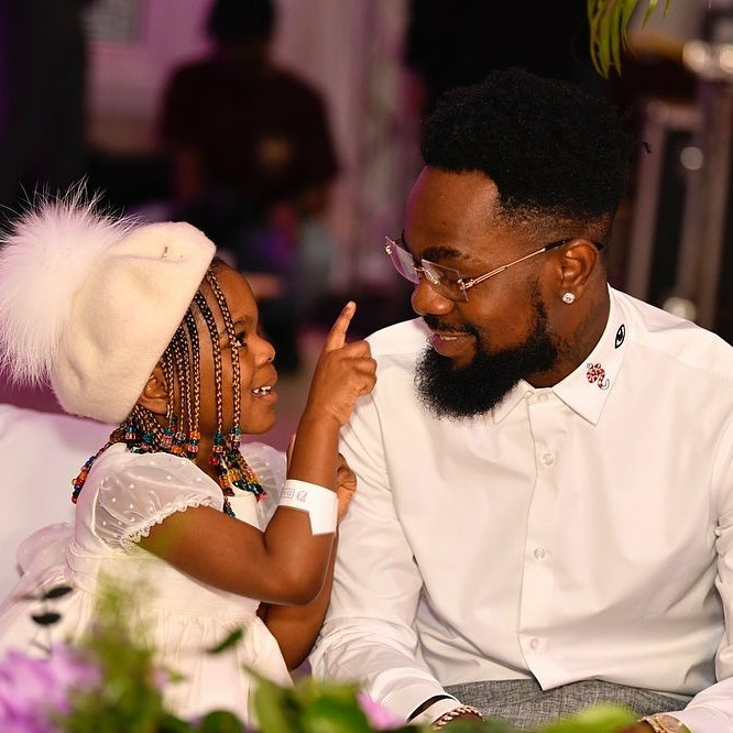 Adorable photos of singer, Patoranking and his daughter, Wilmer