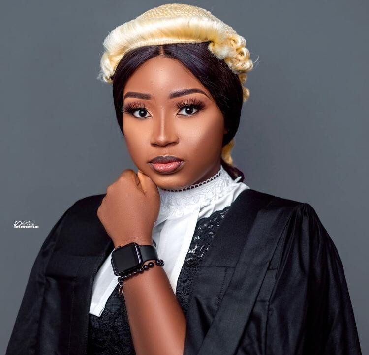 Beautiful lady bags first class at Nigerian Law school