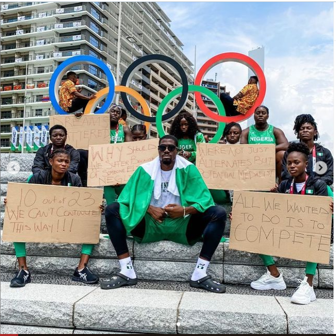 Tokyo 2020 Olympics: Disqualified Nigerian Athletes storm Japan streets to protest (photos)