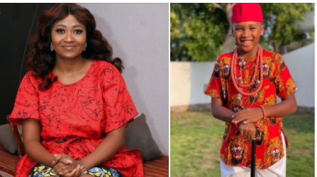 Actress Mary Remmy Njoku shares her son